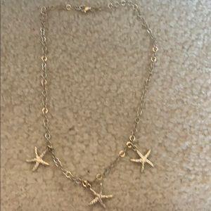 Sterling silver starfish choker